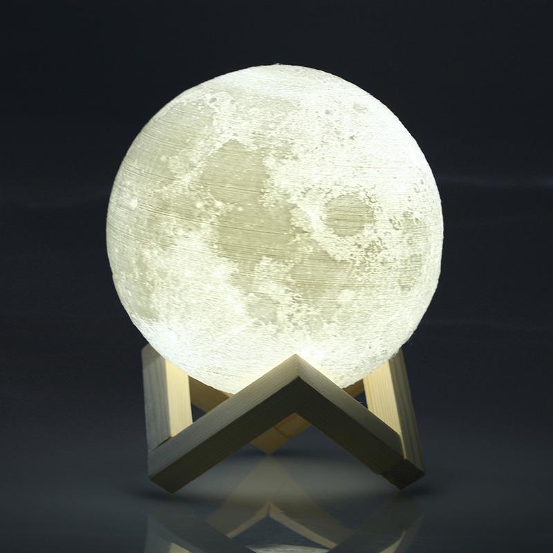 Ночник 3D светильник луна Moon Touch Control 15 см, 5 режимов - Фото 9
