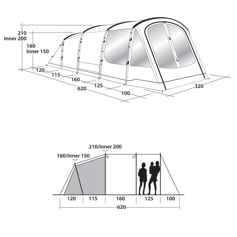 Пятиместная кемпинговая палатка Outwell Collingwood 5 - Фото 10