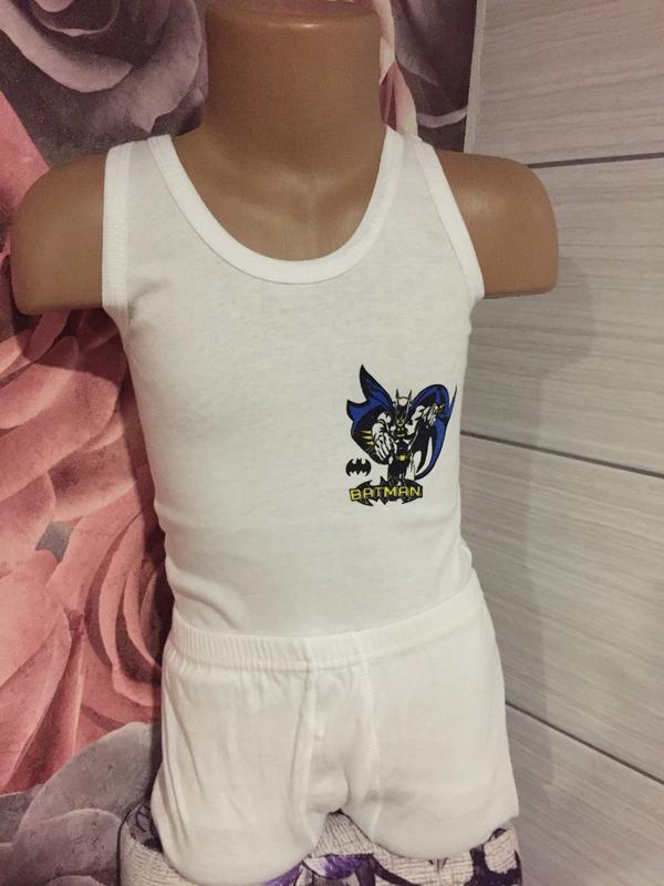 Новый комплект для мальчика-бетмен,на  6 лет (майка трусы )