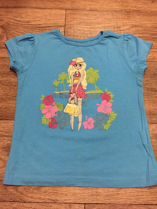 Красивая футболочка* y&d * с ярким принтом,просто прелесть,на ... - Фото 2