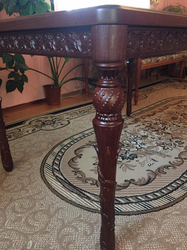 Різьблений стіл / Резной стол - Фото 4