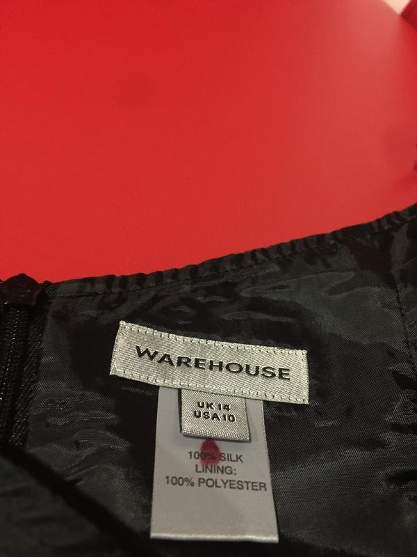 100% шелковое платье  на подкладке с вышивкой и разрезами по б... - Фото 5