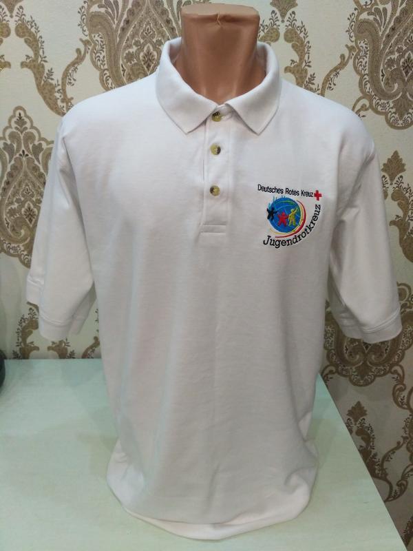 Распродажа футболок! белая футболка поло