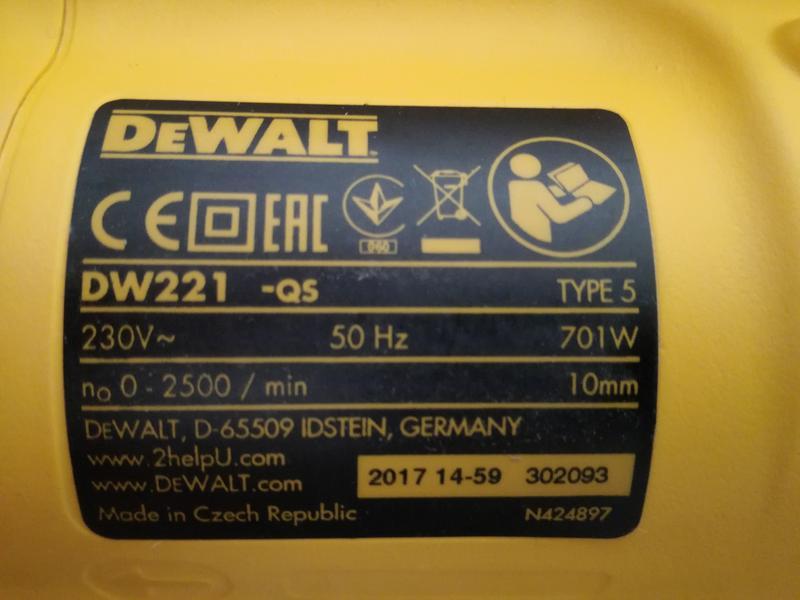 Дрель DeWalt DW221 із швидкозажимним патроном - Фото 2