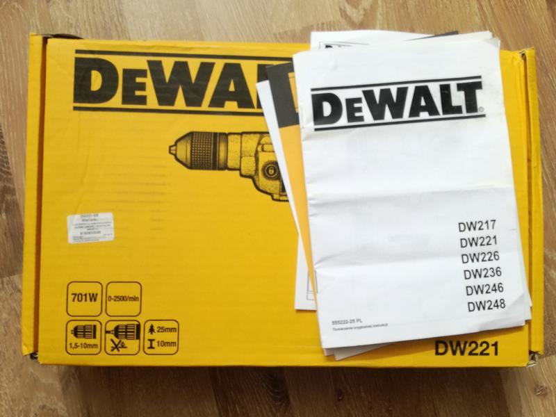 Дрель DeWalt DW221 із швидкозажимним патроном - Фото 4