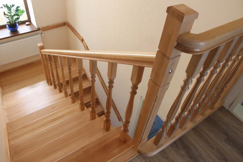 Монтаж деревянной лестницы, изготовление ,реставрация .Опыт работ - Фото 13