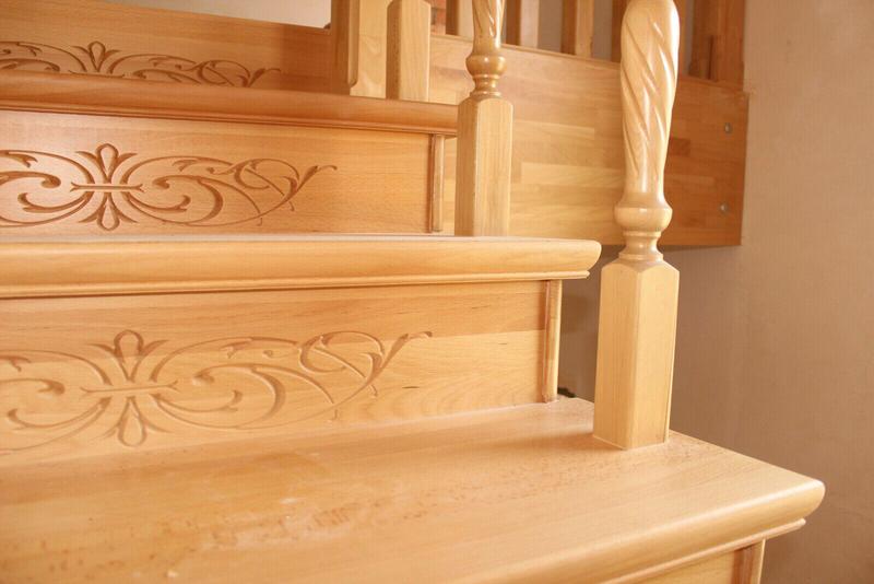 Монтаж деревянной лестницы, изготовление ,реставрация .Опыт работ - Фото 19