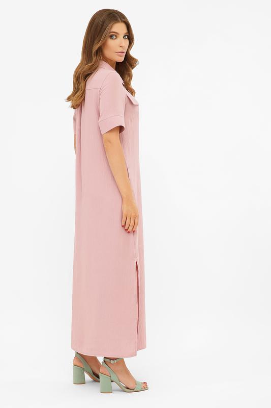 Длинное платье-рубашка мелиса s m, l, xl - Фото 2