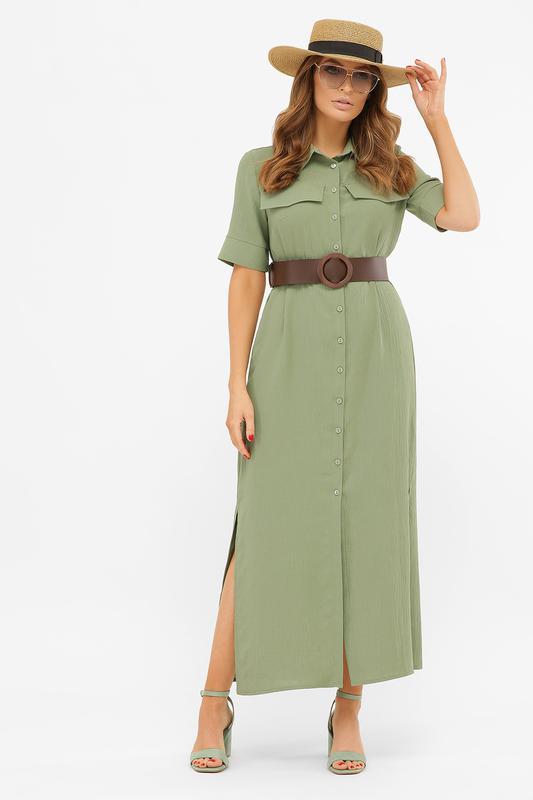 Длинное платье-рубашка мелиса s m, l, xl - Фото 6
