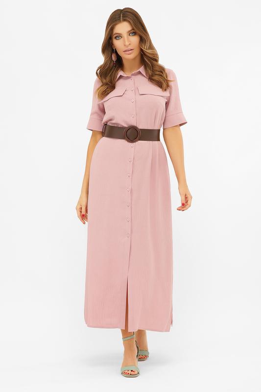 Длинное платье-рубашка мелиса s m, l, xl - Фото 3