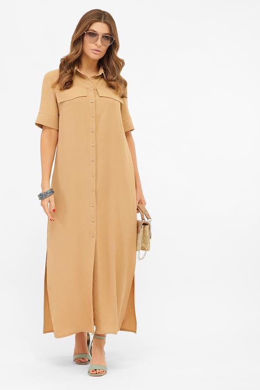 Длинное платье-рубашка мелиса s m, l, xl - Фото 8