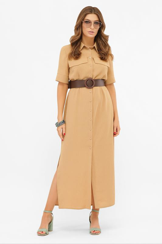 Длинное платье-рубашка мелиса s m, l, xl - Фото 9