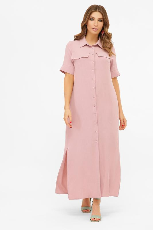 Длинное платье-рубашка мелиса s m, l, xl - Фото 4