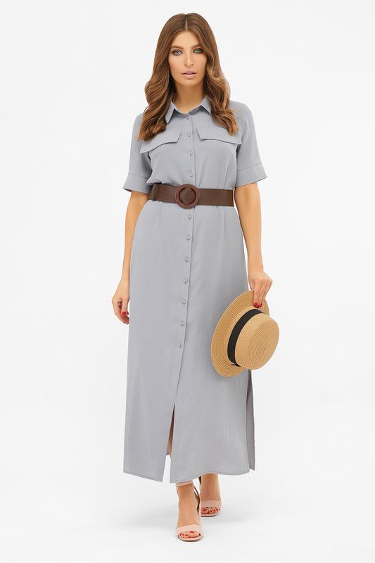 Длинное платье-рубашка мелиса s m, l, xl - Фото 12