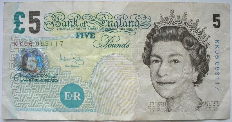 Бона 5 фунтів Англія, 2002 рік *3117