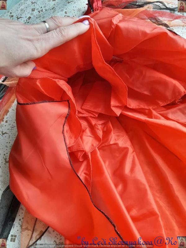 Новое нарядное карнавальное/праздничное платье с украшением на... - Фото 4