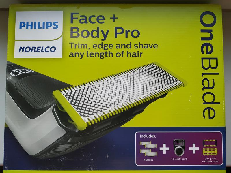 Бритва Philips Oneblade QP6620(QP6520) Face&Body Pro (+ 4 лезвия)