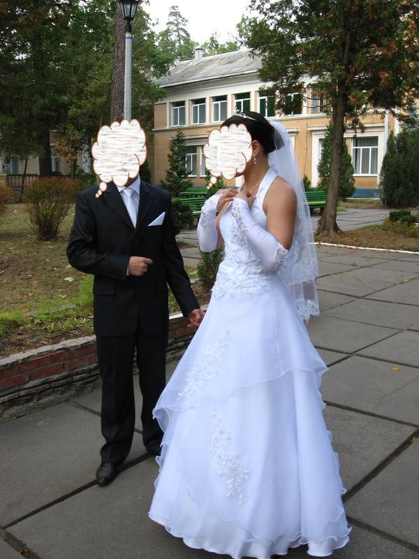 Плаття весільне Розмір регулюється 46-48 Біле Ідеальний - Фото 2