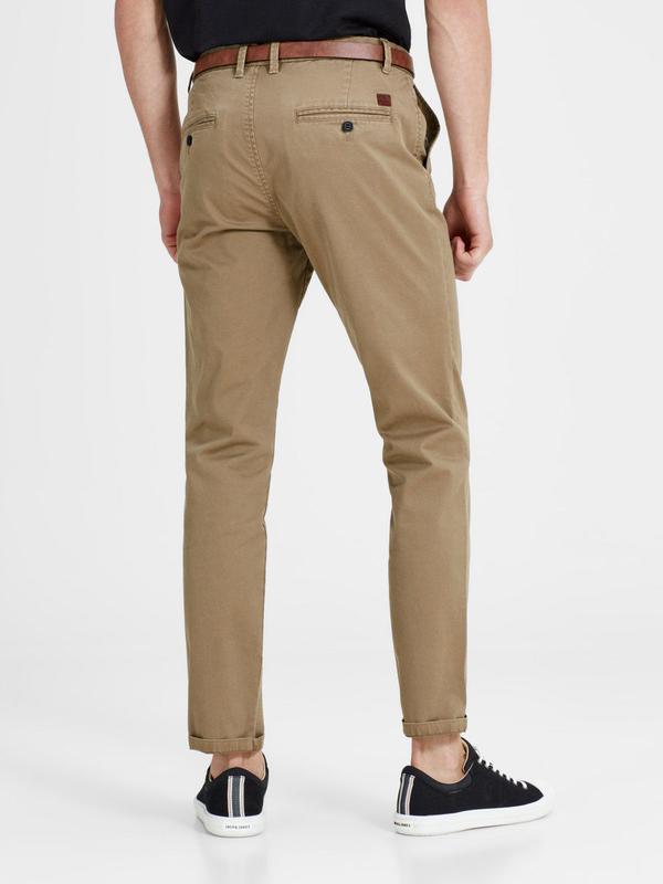 Чино брюки мужские песочные с косыми карманами  Jack & Jones - Фото 2