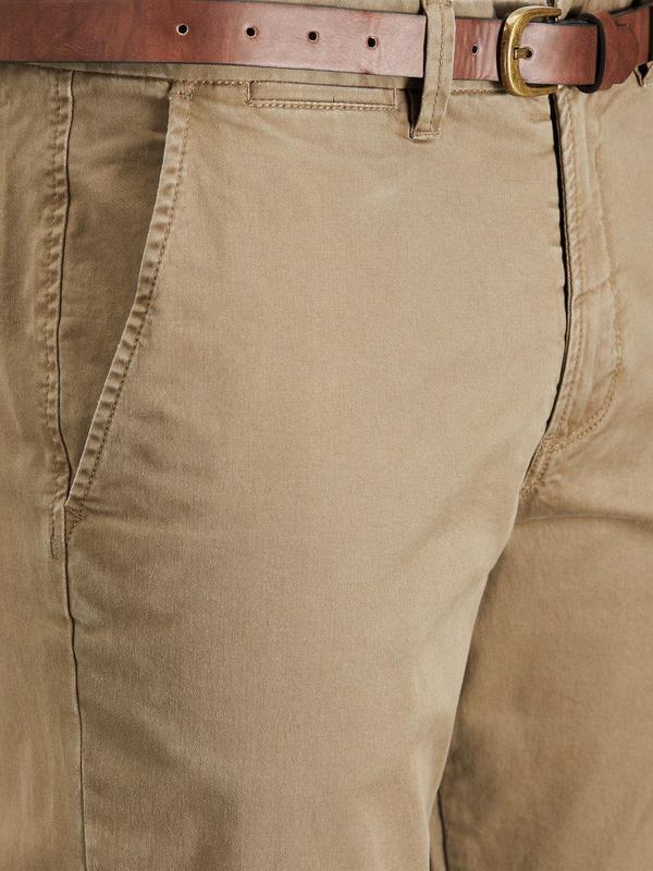 Чино брюки мужские песочные с косыми карманами  Jack & Jones - Фото 3