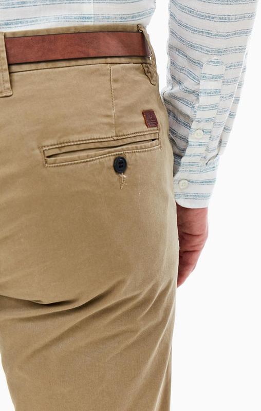 Чино брюки мужские песочные с косыми карманами  Jack & Jones - Фото 4
