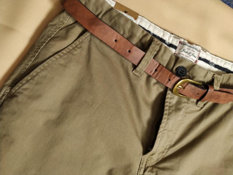 Чино брюки мужские песочные с косыми карманами  Jack & Jones - Фото 5