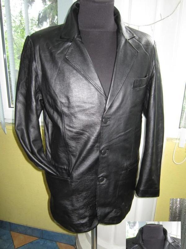 Кожаная мужская куртка - пиджак alak leather collection. итали...