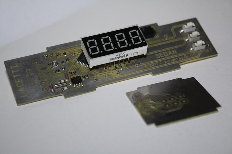 Часы, вольтметр, два термометра - Chevrolet Lacetti, Lanos, Sens - Фото 3