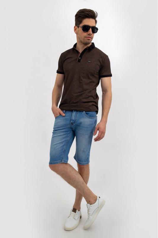 Джинсовые шорты мужские цвет Голубой - Фото 2