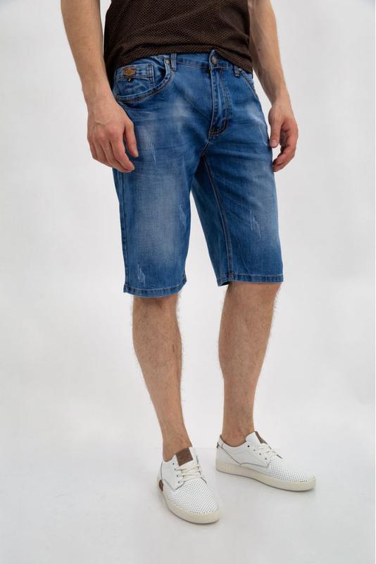 Джинсовые шорты мужские цвет Синий - Фото 3