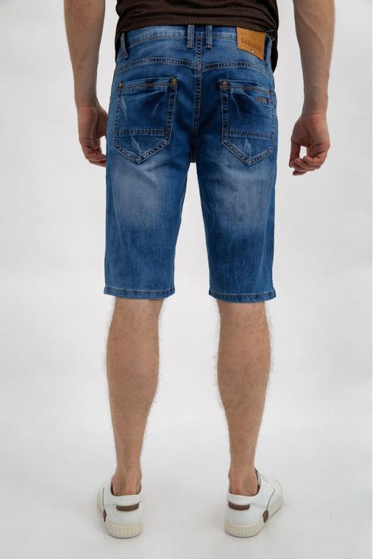 Джинсовые шорты мужские цвет Синий - Фото 2