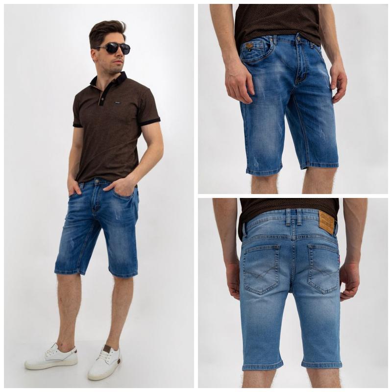 Джинсовые шорты мужские цвет Синий
