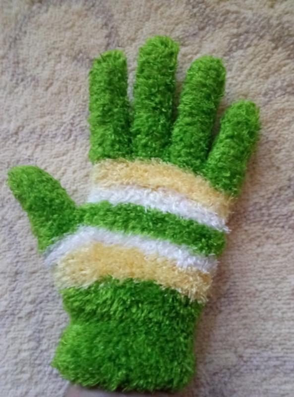 Мягкие пушистые перчатки