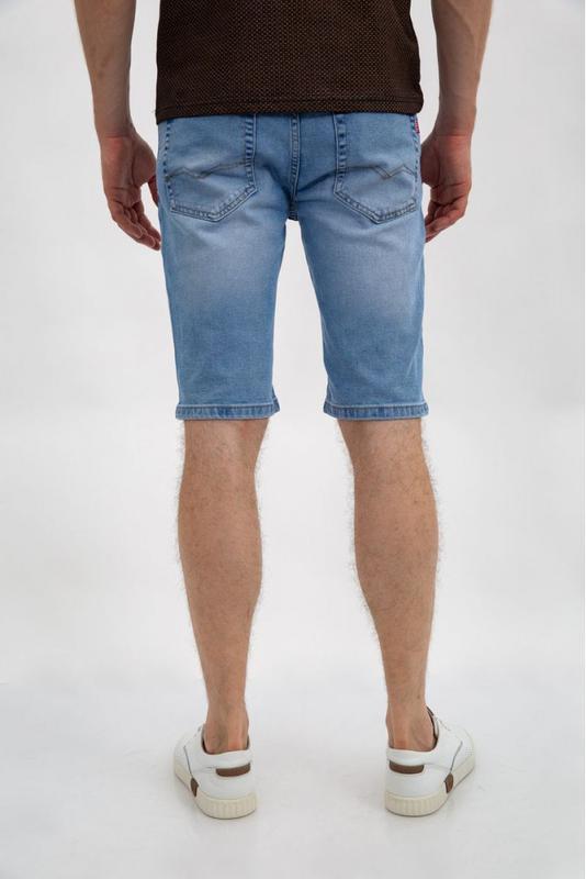 Джинсовые шорты мужские цвет Голубой - Фото 4