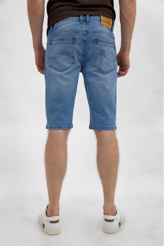Джинсовые шорты мужские цвет Голубой - Фото 3