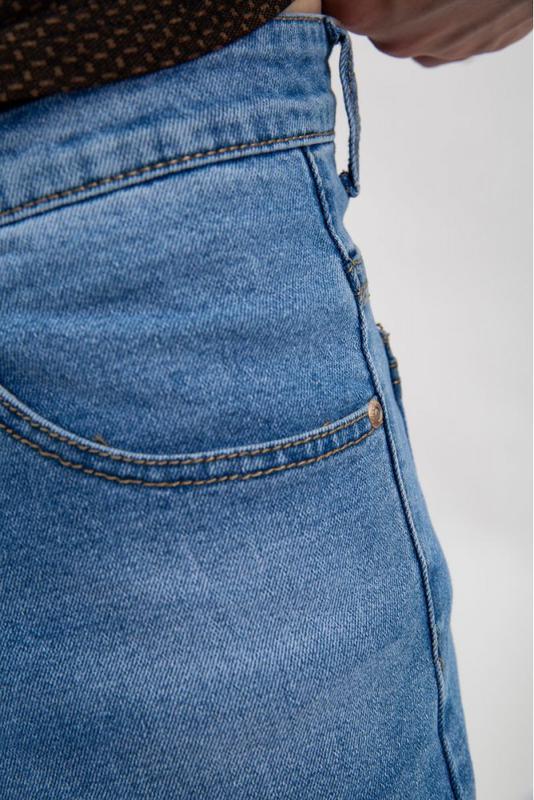 Джинсовые шорты мужские цвет Голубой - Фото 5
