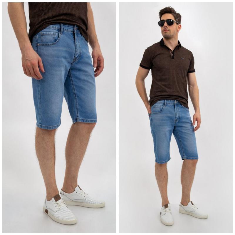 Джинсовые шорты мужские цвет Голубой