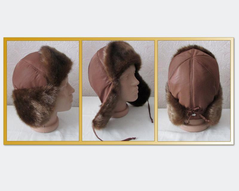 """Шапка ушанка коричневая 2,""""норка"""" по оптовым ценам от производ..."""