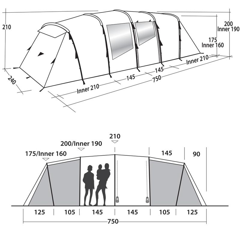 Палатка кемпинговая восьмиместная Easy Camp Huntsville Twin 800 - Фото 10