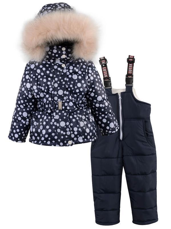Зимний комбинезон для девочки в ярких и модных расцветках. - Фото 2