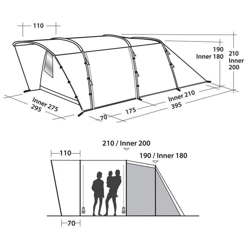 Палатка кемпинговая пятиместная Easy Camp Palmdale 500 - Фото 10
