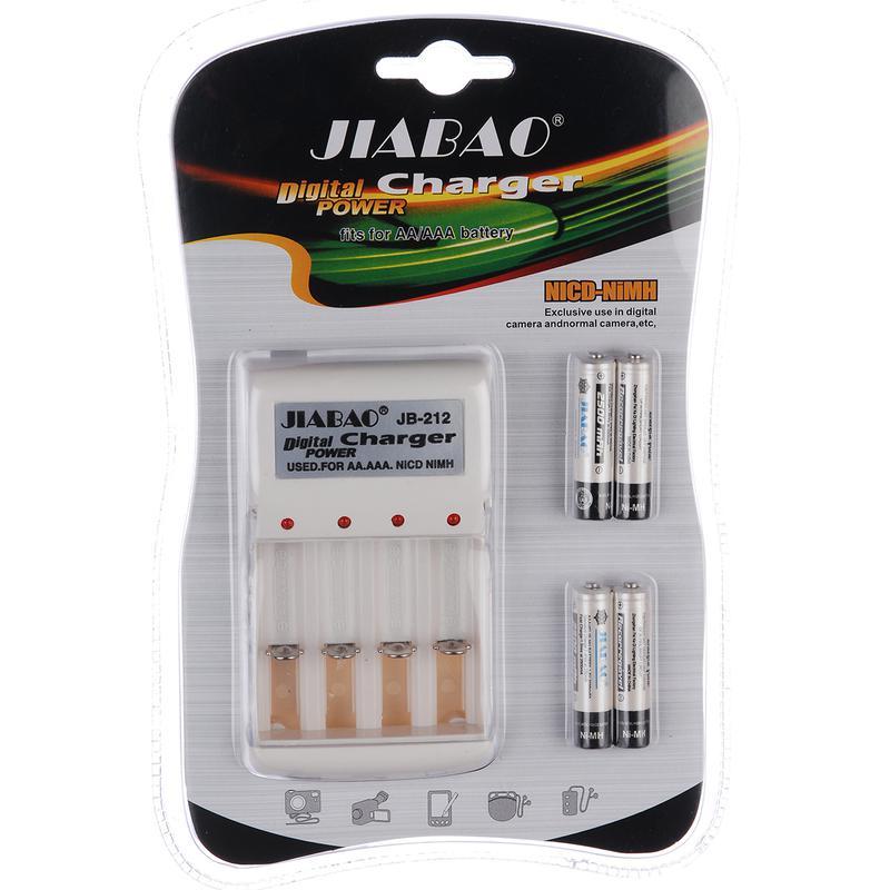 Зарядное устройство Jiabao + батарейки микропальчик (212ААA)