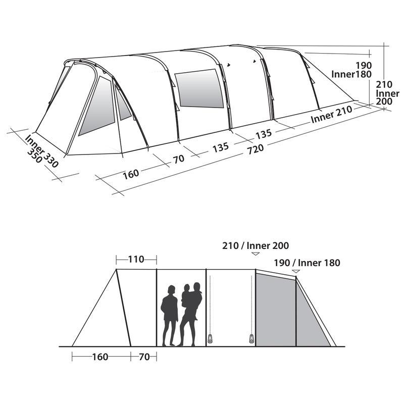 Палатка кемпинговая шестиместная Easy Camp Palmdale 600 Lux - Фото 9
