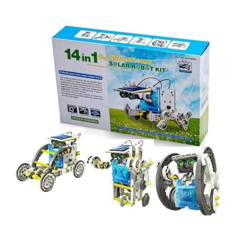 Робот конструктор Solar Robot 14 в 1 PREMIUM на солнечных батарея