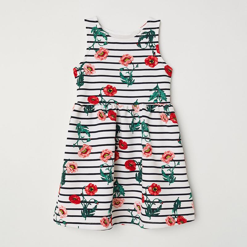 Платье для девочки, белое. маки.
