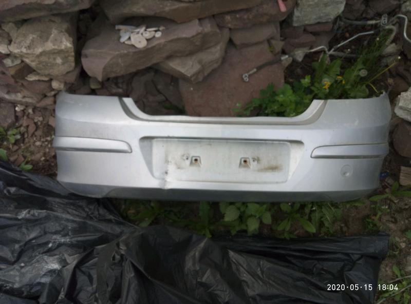 Бампер зад задній Opel Astra H 2007 хетчбек серебро