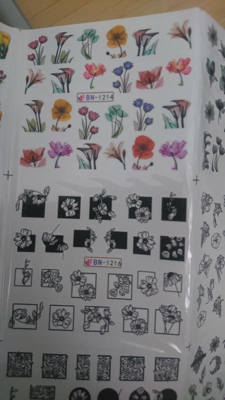 Набор слайдер-дизайнов для ногтей - Фото 2