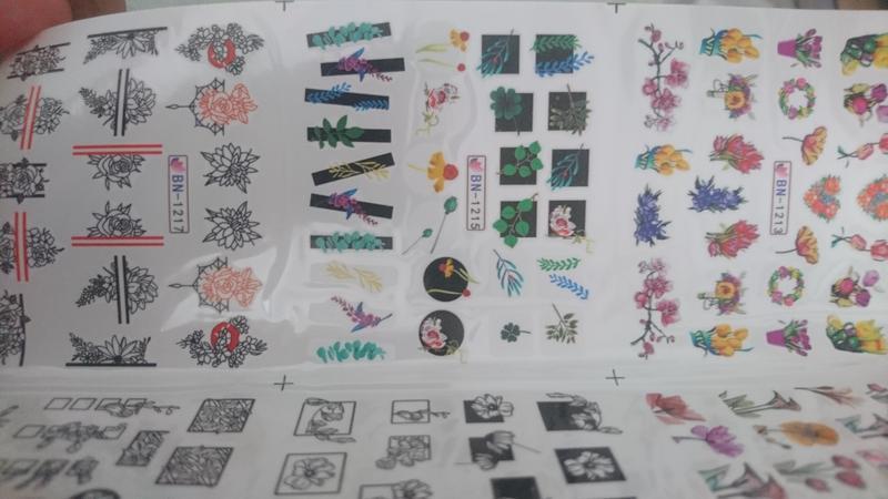 Набор слайдер-дизайнов для ногтей - Фото 3