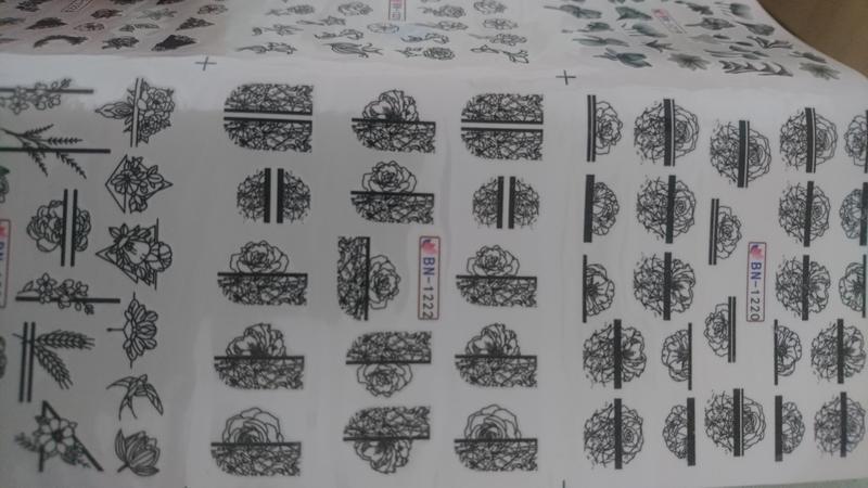 Набор слайдер-дизайнов для ногтей - Фото 4