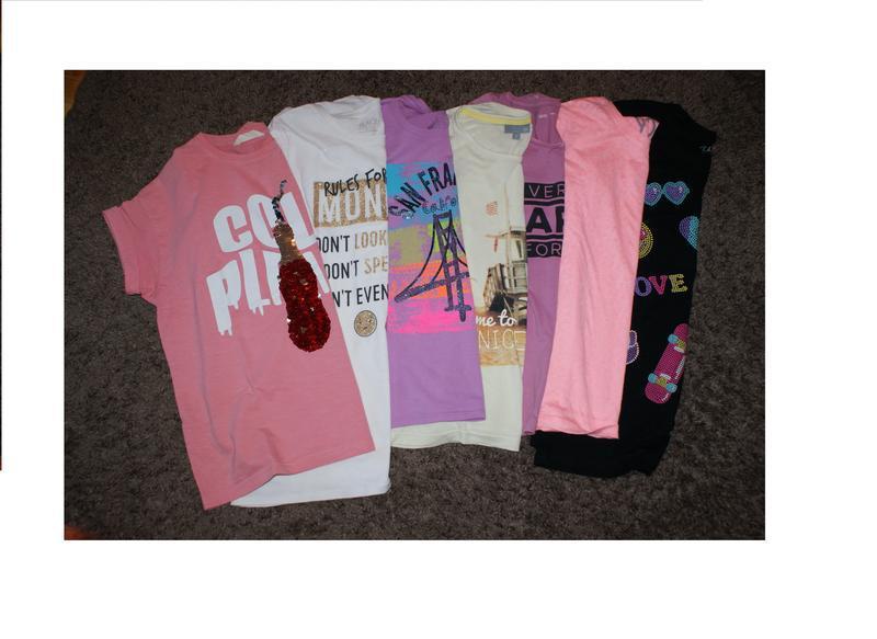 Летние футболки для девочки 10-12 лет,mango, place, young dime...